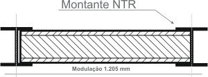 1.205 mm, com montantes NTR – Montante Simples
