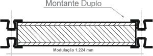 1.224 mm, com montantes N1AFA – Montante Duplo